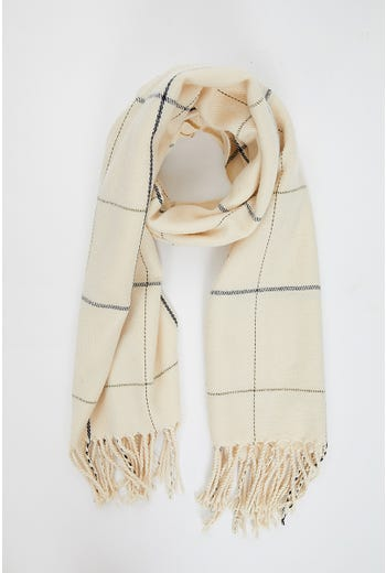NYLA ROSE NUDE CHECK SCARF