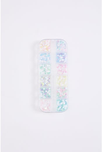 Pastel Heart Nail Sequins