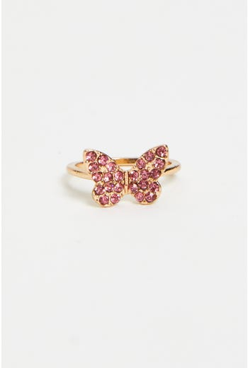 Diamante Butterfly Ring