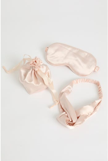 Satin Sleep Eye Mask Head Scarf Set