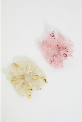 Butterfly Decor Scrunchies Set