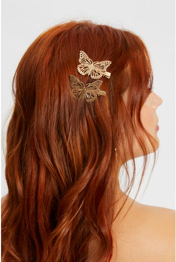Butterfly 2 Pack Hair Clips