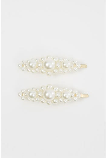 NYLA-ROSE HIGH ROAD PEARL HAIR CLIPS