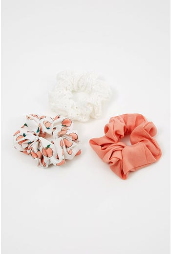 NYLA-ROSE PEACHY KEEN 3 PACK SCRUNCHIES