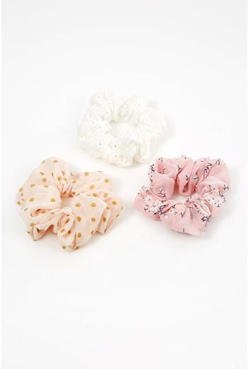 NYLA-ROSE THE ONLY WAY 3 PACK SCRUNCHIES