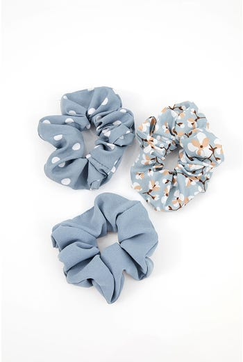 NYLA ROSE ASSORTED PRINT 3 PACK SCRUNCHIES