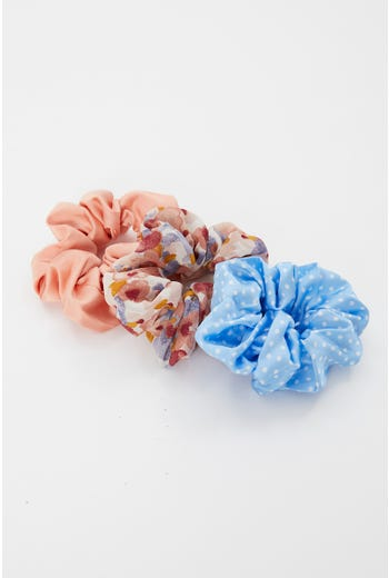3 Pack Scrunchies Set