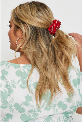 Floral Print Sustainable Scrunchie