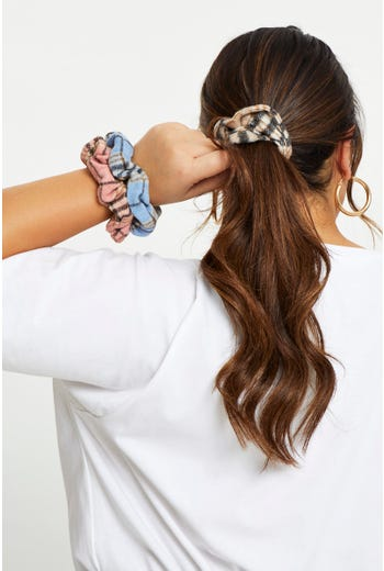 Plus Check 3 pack Scrunchies