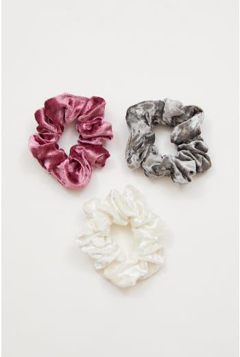 Plus Velvet 3 pack Scrunchies