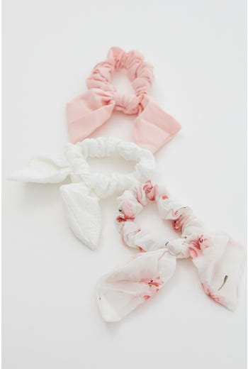 3 Piece Assorted Bow Scrunchies set