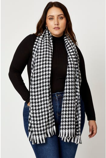 Plus Hounds Tooth Check Scarf