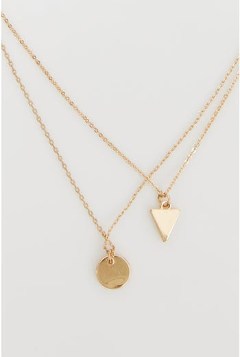 NYLA-ROSE LAYERED GEO NECKLACE