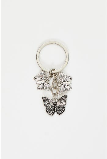 Plus Butterfly Keyring