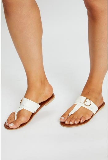 Buckle Detail Flat Sandal