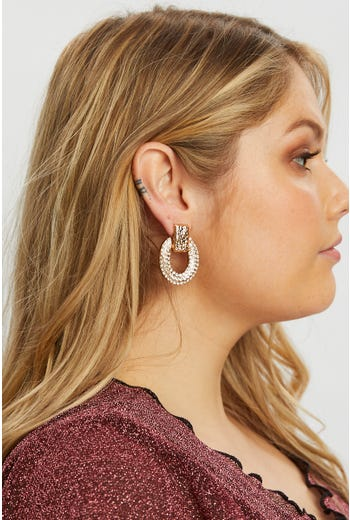 Plus Open Disc Drop Earring