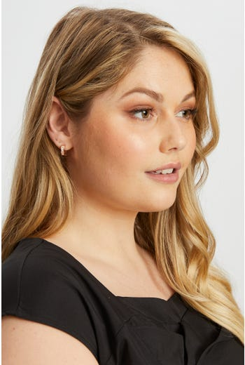 Diamante Small Hoop Earring