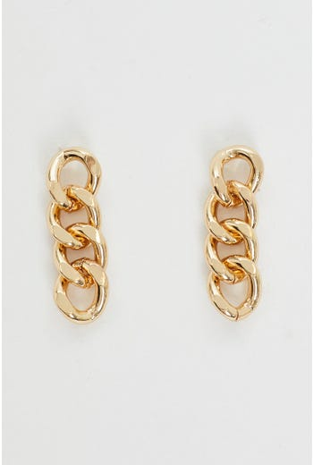 Chunk Chain Drop Earrings