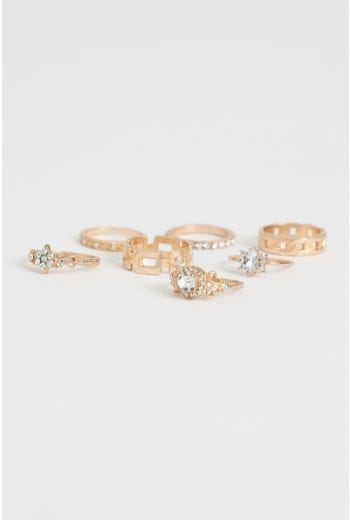 7 Pack Mismatch Ring Set