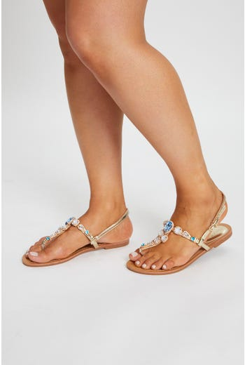 Plus Gemstone Detail Sandal
