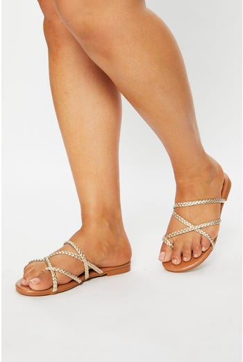 Braid Strap Flat Sliders