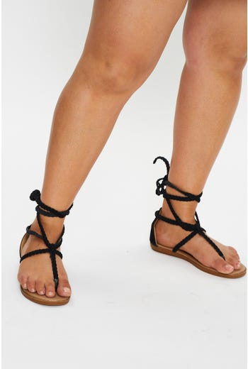 Tie Up Gladiator Sandals