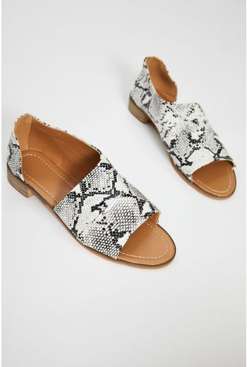 Animal Print Side Cut Out Flats