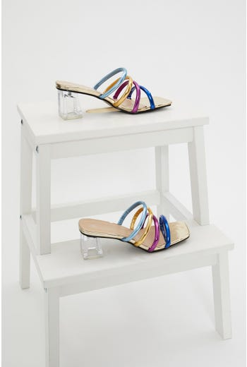 Multi Colour Strappy Heels