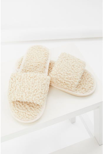 Teddy Faux Fur Slides