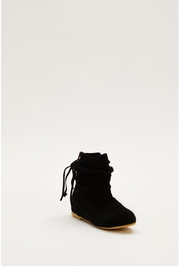 Slouch Lace Detail Boots