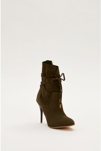 Heeled Fold Over Boots