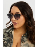 Cat-eye With Gold Frame Sunglasses