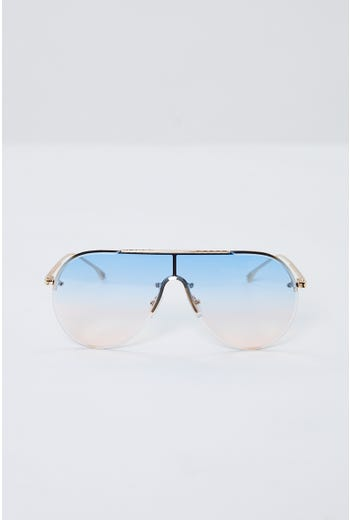 Plus Visor Round Frameless Sunglasses