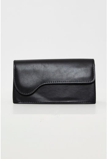 Faux Leather Baguette Bag