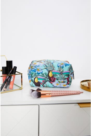 Toucan Print Make up Bag