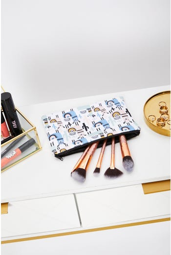 Llama Print Make up Bag