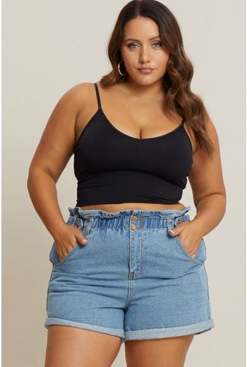 Plus Seamless Cami Crop Top