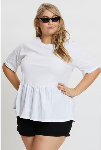 Plus Peplum T Shirt