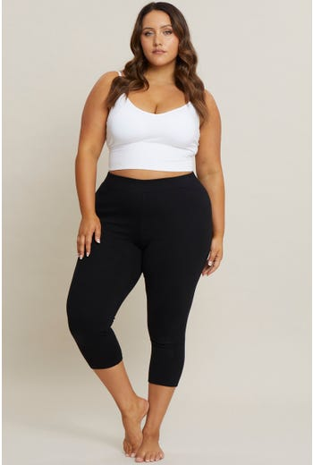 Plus Super Stretch Ponte Crop Premium Leggings