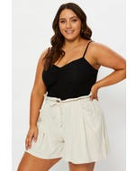 Plus Ruched Cami Top