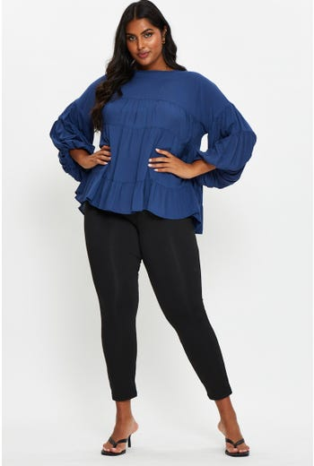 Plus Fleece Basic Leggings