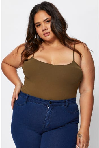Plus Cotton Span Basic Cami