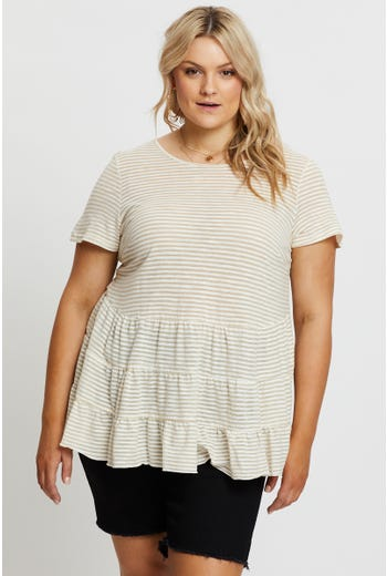 Plus Tiered T-shirt
