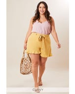 PLUS OWEN FRILL DETAIL SHORTS