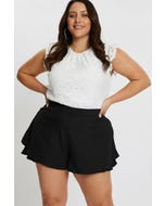 PLUS UP ALL NIGHT DOUBLE LAYER SHORTS