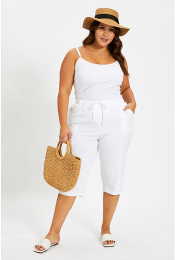 Plus Stretch Waistband Relaxed Fit Pants