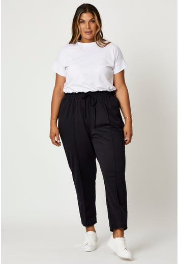 Plus Pintuck Front Ankle Length Pants