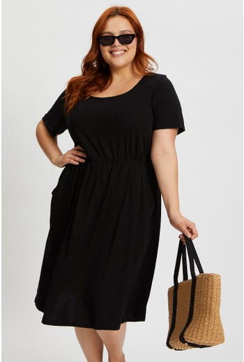 Plus Short Sleeve Jersey Dress