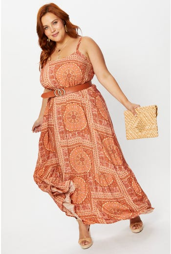 Plus Tiered Maxi Dress