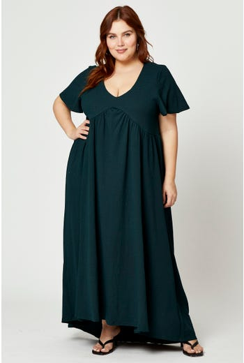 Plus V-Neck Relaxed Maxi Dress